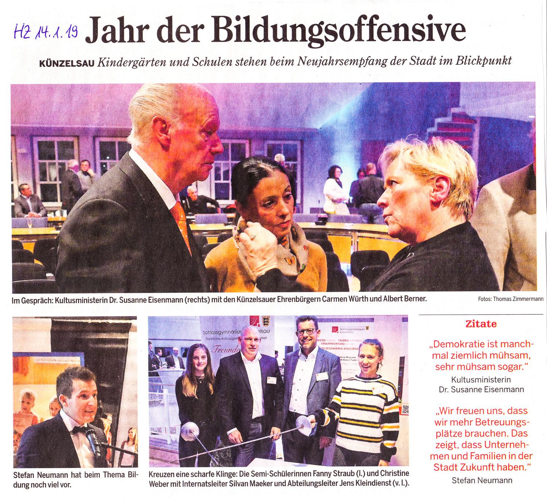 ©Hohenloher Zeitung v. 14.01.2019
